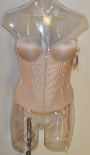 """Bustier Push Up  Wonderbody Low Back /""""Vintage/"""" #6920 Nude Blk BNWT ABCD-32 to 38"""