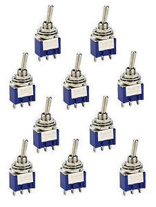 10-Miniatur-Kippschalter-Schalter-3-polig-1-x-UM-EIN-EIN-od-EIN-AUS