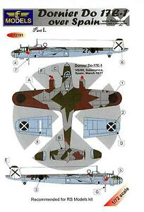 LF Models Decals 1//72 TUPOLEV SB-2 KATIUSKA Spanish Air Force Bomber