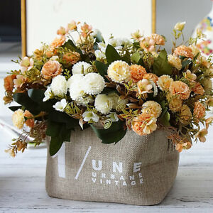 Am-ITS-1-Bouquet-Artificial-Carnation-Flower-DIY-Wedding-Party-Home-Decor-Gift