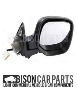 Door Wing Mirror Manual Black O//S Right Side Peugeot Partner 1996-2008 Brand New