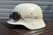 ww2 german m35 helmet luftwaffe winter camo snow goggles wwii ef64