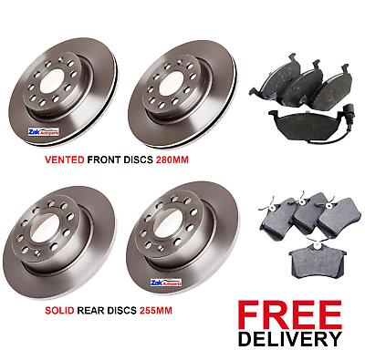 FRONT BRAKE DISCS /& PADS SET *NEW* AUDI A3 MK2 1.4 1.6 1.9 TDi 2004-2010