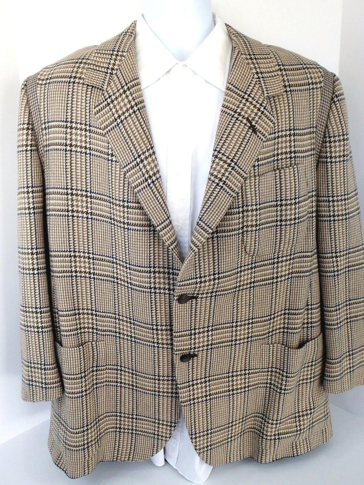 Herren Oxxford Clothes Crown Cashmere Gotham 2 Button Blazer Sport Coat Sz. 44