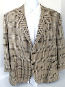 MEN-039-S-Oxxford-Clothes-Crown-Cashmere-Gotham-2-Button-Blazer-Sport-Coat-Sz-44