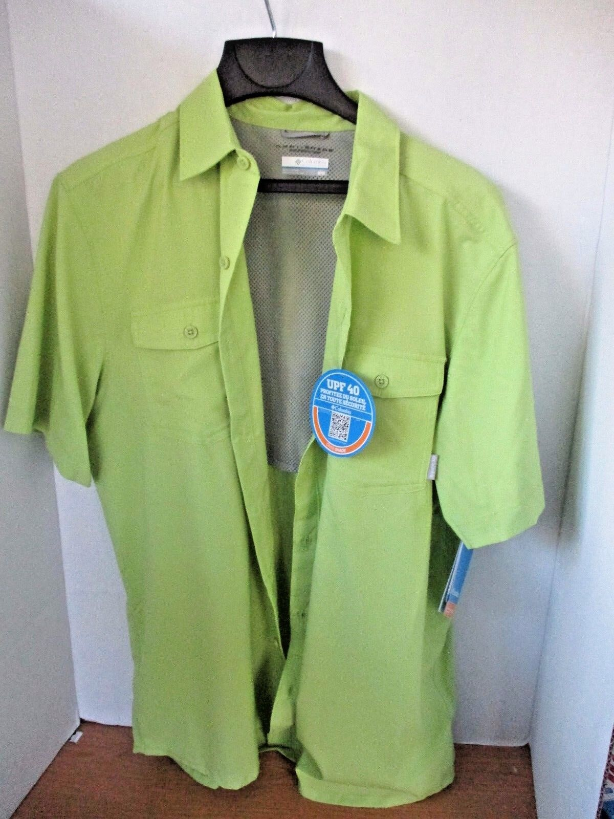 COLUMBIAGreen BUTTON DOWN OMNI SHADE Ventilated UPF 40 SHIRTMen's MediumNWT