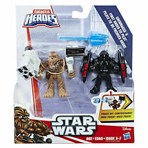 Star-Wars-Galactic-Heroes-Chewbacca-amp-First-Order-TIE-Pilot-Hasbro-Sealed