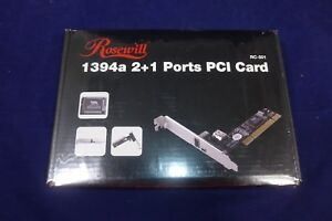 Rosewill-2-1-Port-1394a-Low-Profile-PCI-Card-Brand-New