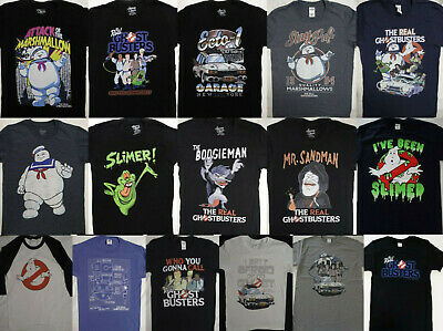 Real Ghostbusters The Whole Crew Black Children/'s T-Shirt