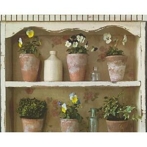 As Creation Pot De Fleur Papier Peint Mural Jardin Etagere Peint
