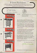 """NEUHOFFNUNGSHÜTTE bei Sinn, Werbung 1935 für """"HAAS""""-Dauerbrand-Küchenherde"""