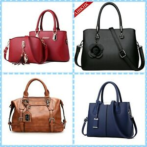 Women-Lady-Leather-Handbag-Tote-Purse-Messenger-Cross-Body-Shoulder-Bag-Satchel