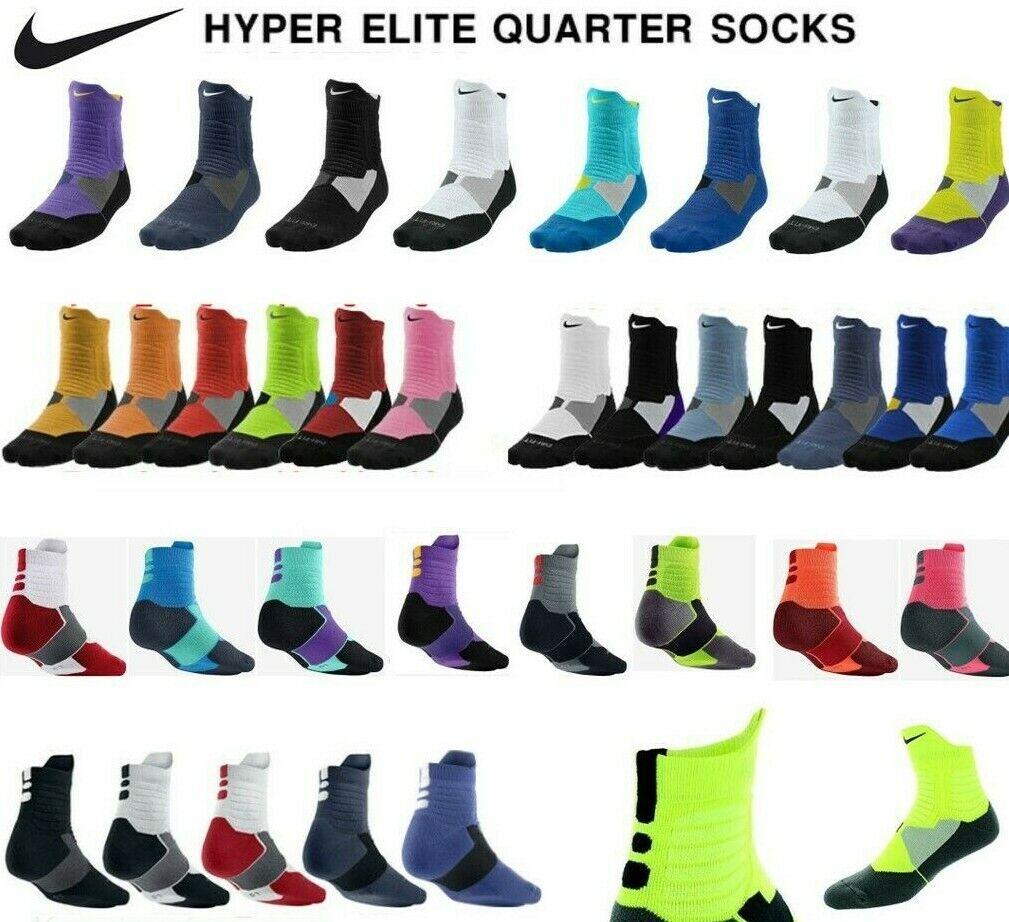 Interpretar Bien educado Fecha roja  Nike HYPER Elite Cushioned Basketball Crew Socks XL Black/grey Pattern for  sale online | eBay