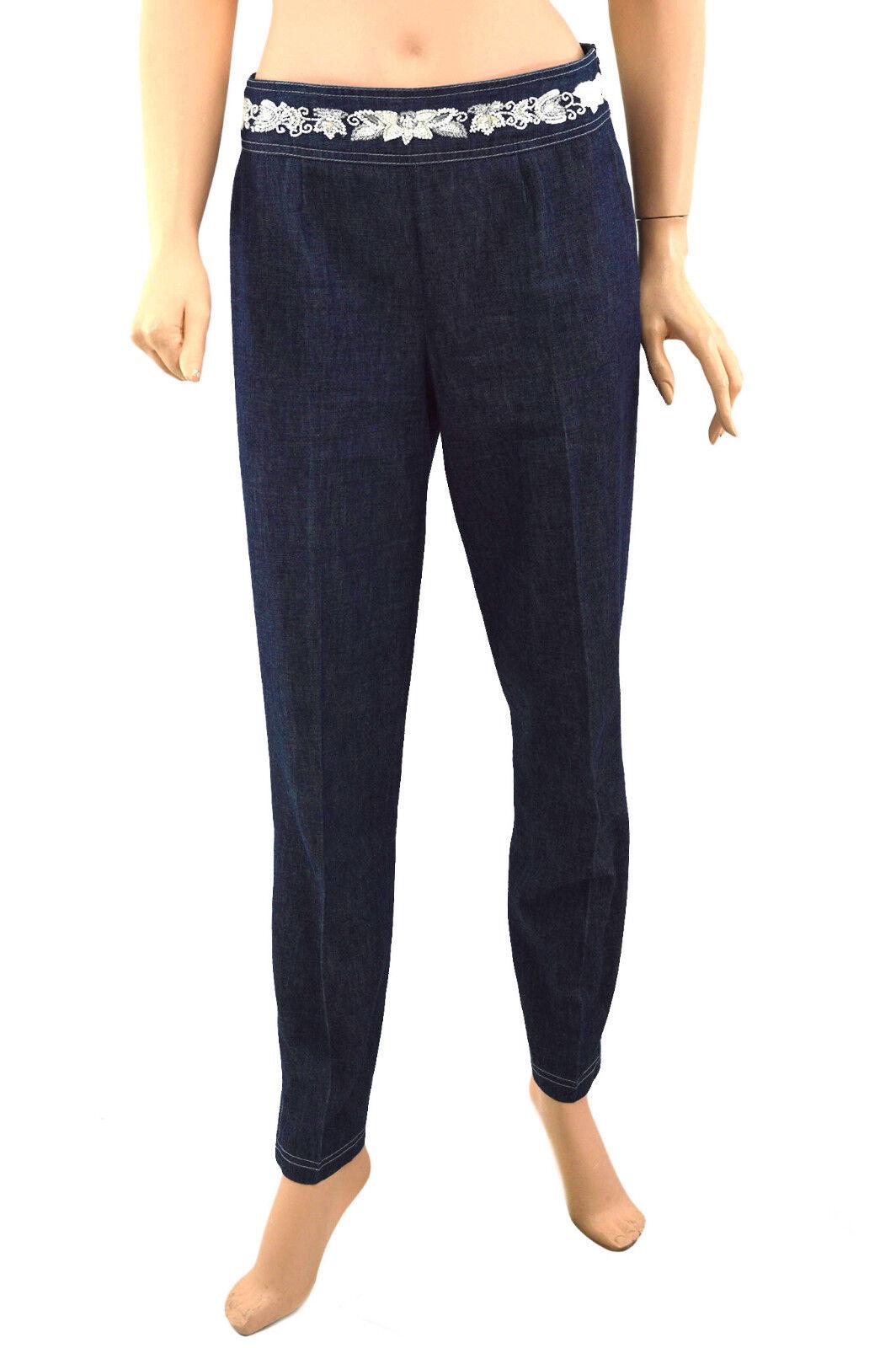 350 ESCADA Jeans bluee Sequin Womens Denim   US 4