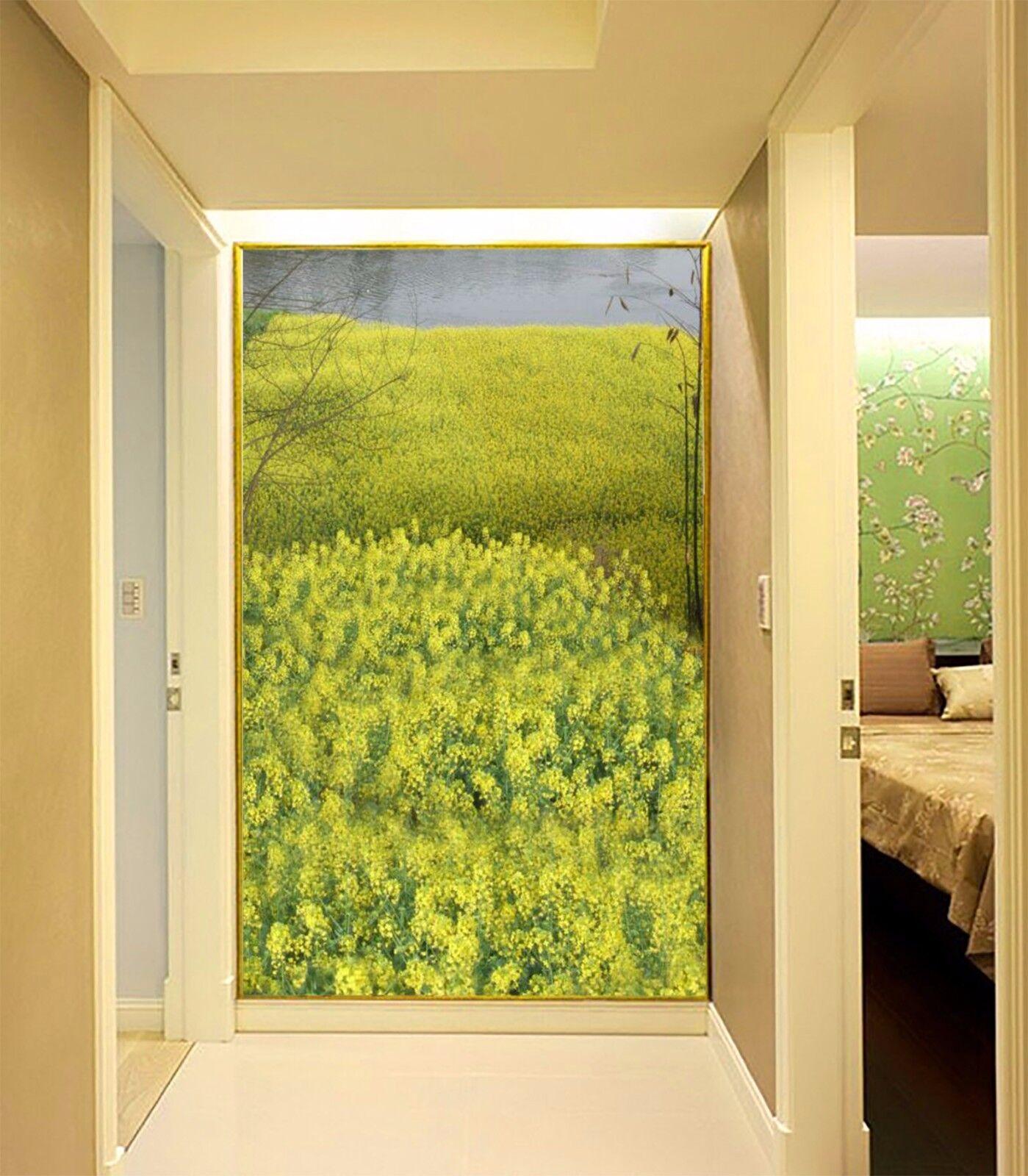 3D Gelb Rape 4 Wallpaper Murals Wall Print Wallpaper Mural AJ WALL AU Lemon