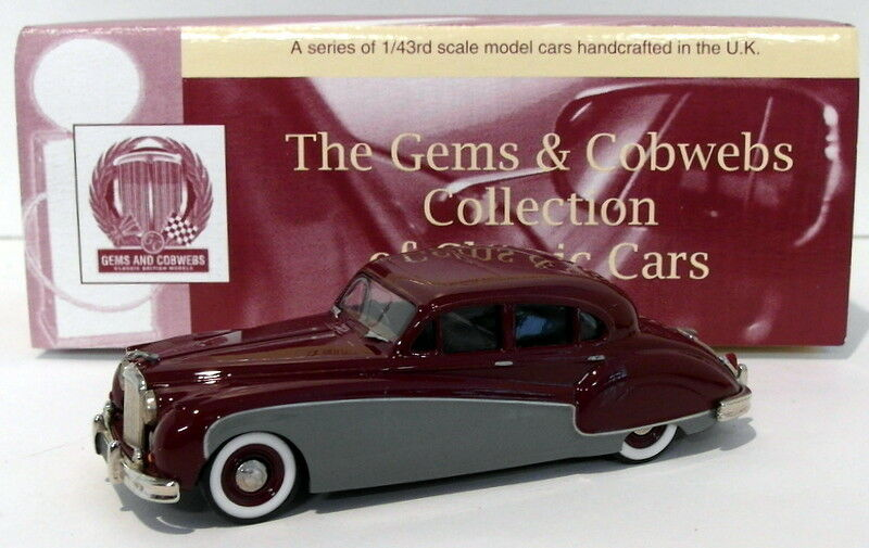 Milestone Miniatures 1 43 Scale GC6MG - 1958-61 Jaguar Mk.IX - Maroon gris