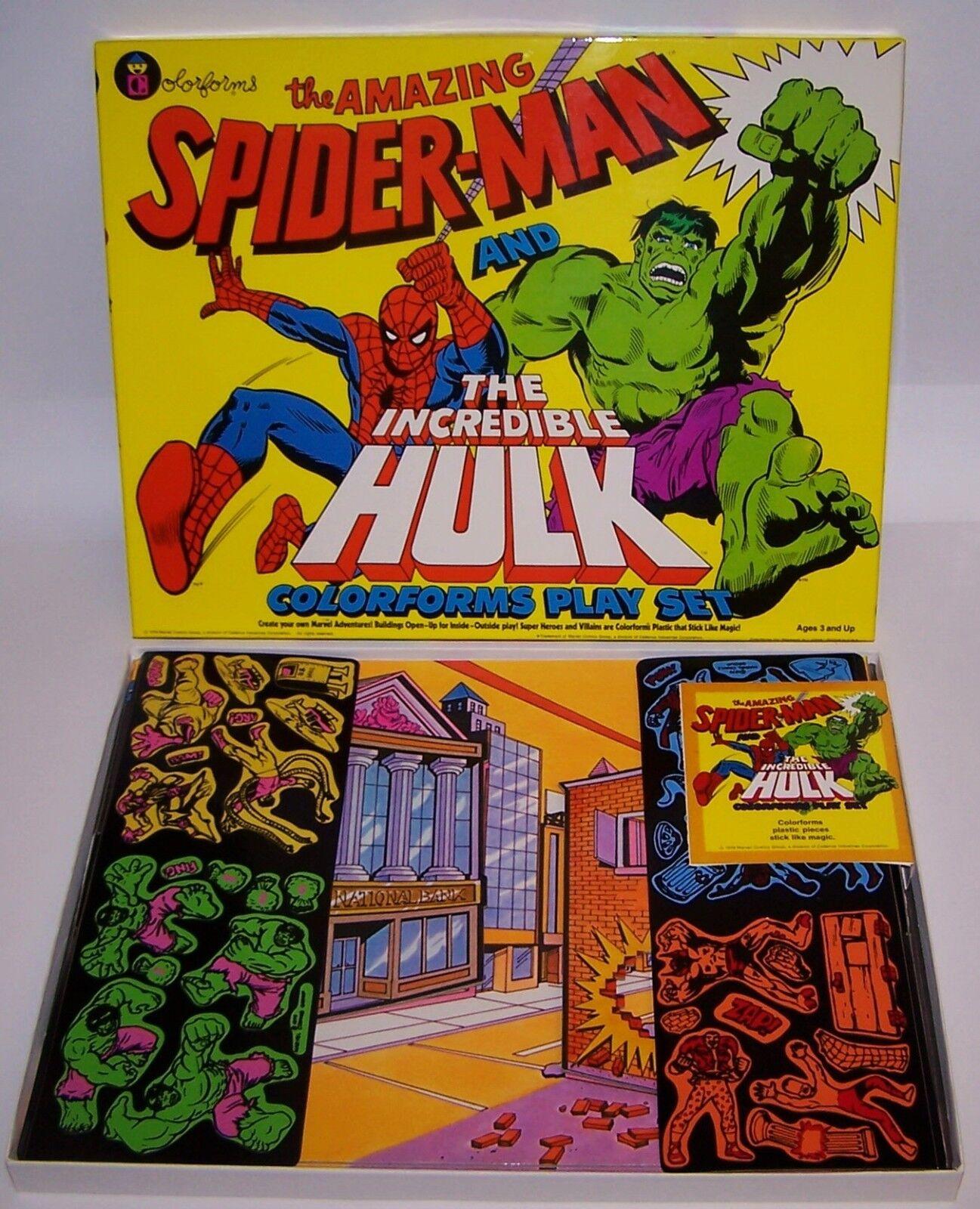Amazing Spider-Man & Incrotible Hulk Farbeforms Play Set MIB Xmas Free Shipping