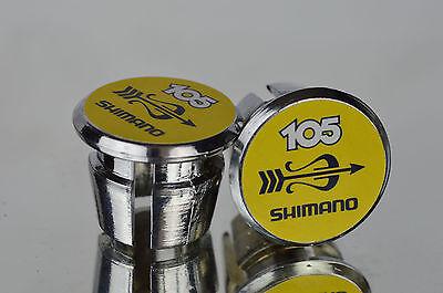 Shimano Dura Ace 7400 Handlebar End Plugs Bar Caps lenkerstopfen bouchon vintage