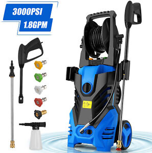 3000PSI-1-8GPM-Electric-Pressure-Washer-High-Power-Cold-Water-Cleaner-Machine