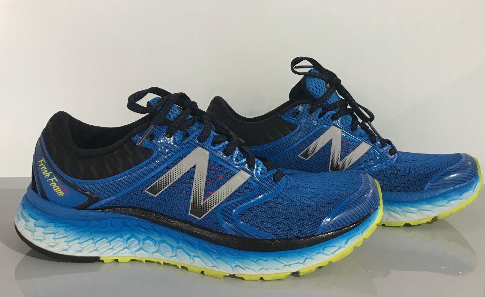 New Balance Men's Running shoes, Electric bluee Hi Lite, 10 D US, M1080V7