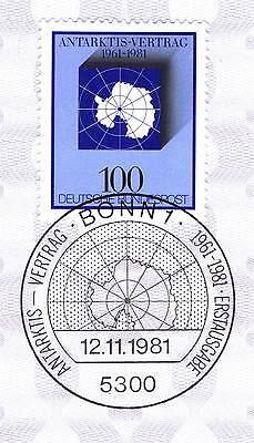 Brd 1981: Antarktis-vertrag Nr. 1117 Mit Bonner Ersttagssonderstempel! 1a! 154