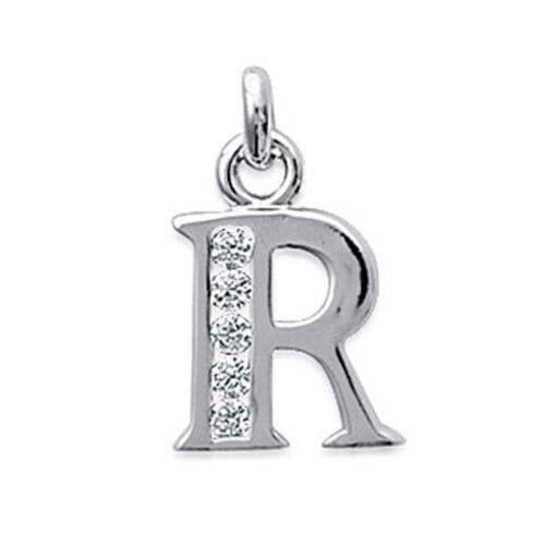BigBang-Bijoux Pendentif Initiale Lettre R en Argent et Zirconias 1A860A11017