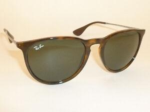 da9eb00a8b2 Details about New RAY BAN Erika Sunglasses Tortoise Frame RB 4171 710 71  Green Lenses 54mm