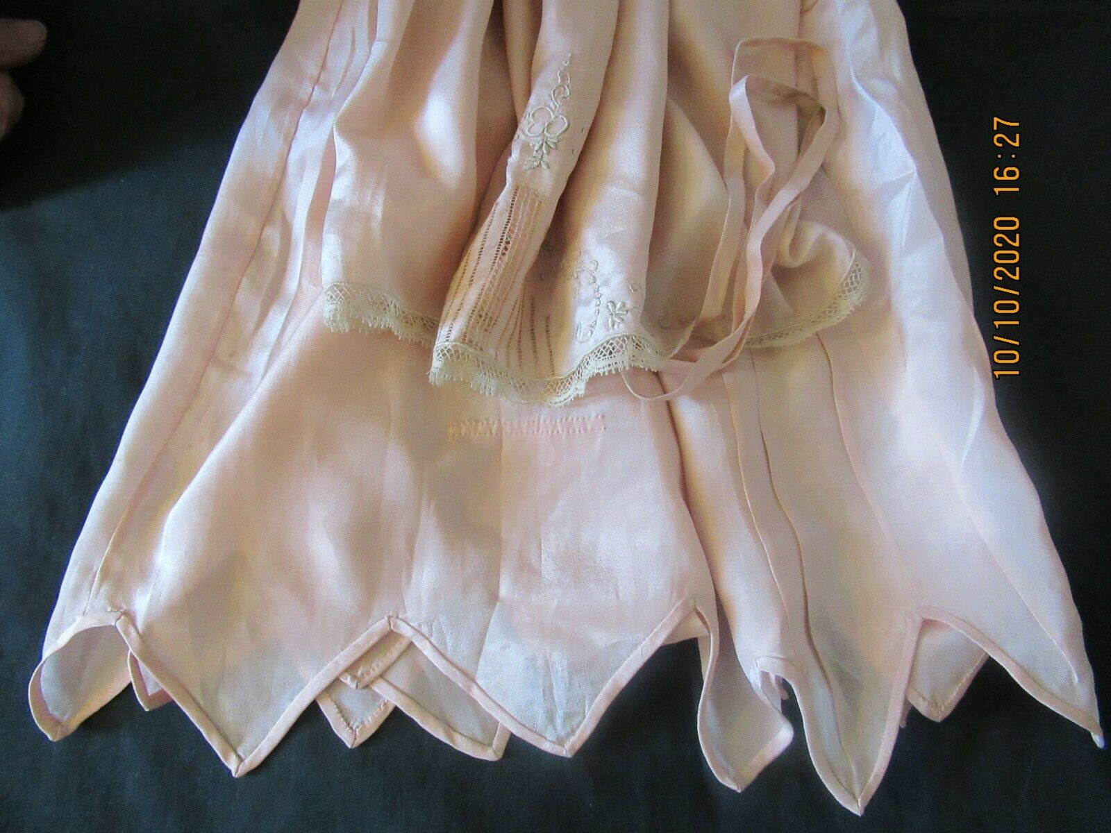 Antique Edwardian Camisole Teddy Embroidered Lace  - image 2