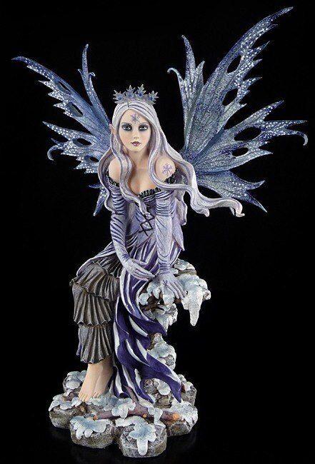 Large Elf - Snow Flake - Elfenflügel - Fairy Statue XL