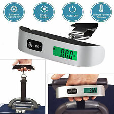 Portable Travel LCD Digital Hanging Luggage Scale Max 110lb Electronic Weight