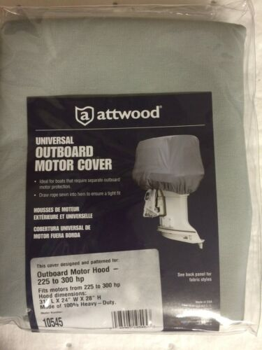 OUTBOARD MOTOR COVER FITS ENGINES 225 TO 300HP 23-10545 ATTWOOD MOTOR COVER NEW