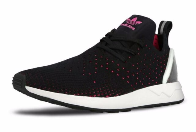 low priced 1e99f e23ed adidas ZX Flux ADV Asymmetrical Primeknit Core Black Pink Men Sz 11 S79063