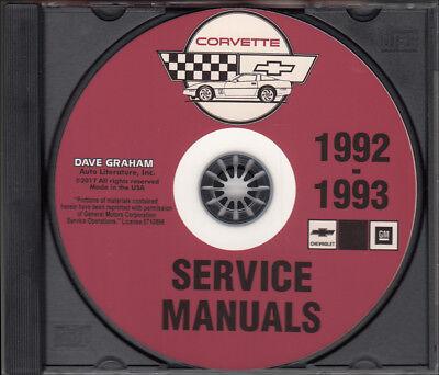 1992 Chevrolet Corvette Shop Service Repair Manual CD