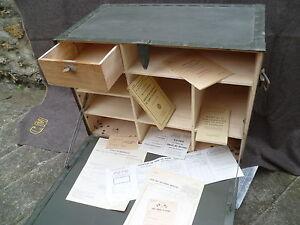 bureau de campagne militaire arm e fran aise mobilier industriel vintage jeep us ebay. Black Bedroom Furniture Sets. Home Design Ideas
