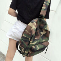 Women's Girl Camo Canvas Shoulder School Bag Backpack Travel Satchel Rucksack