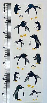 1 Sheet Mrs Grossman Holiday Festive Penguins Turnowsky  Stickers Scrapbook Xmas