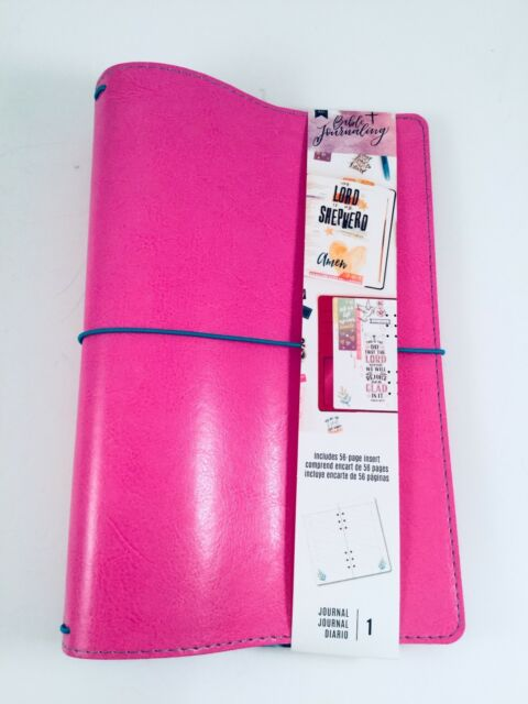 Bible Journaling String Journal Cover Pink W/56 Page Insert Travelers  Notebook