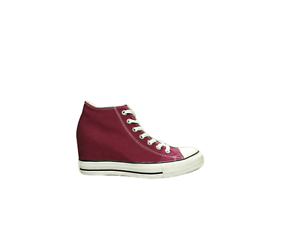 Scarpa Converse Ct Lux Mid Maroon Bordeaux Donna Sneakers 548464C