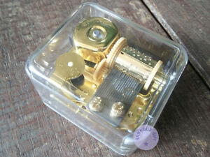 """Play/""""When You Wish Upon a Star/"""" Golden Sankyo Musical Movement for DIY Music Box"""
