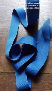 Brillant Ruban De Gros Grain Polyester Bleu 2.5 Cm Vendu Par Multiples De 2 M*