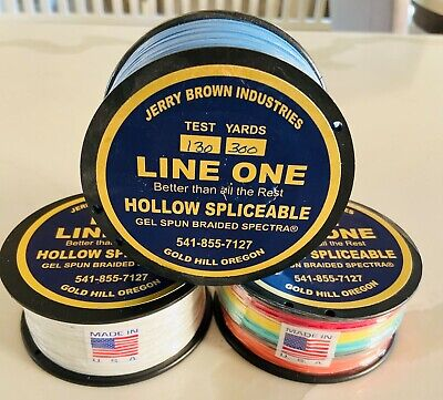 80lb x 100 yard Jerry Brown Line One Hollow Spectra with 1 end loop