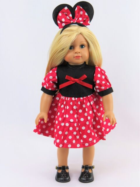 Minnie Mouse Outfit 18 Inch Dolls  by American Fashion World New