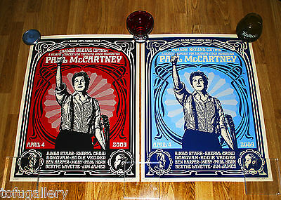 *Last Set* 2009 SHEPARD FAIREY Obey PAUL McCARTNEY S/N Print + COA / BEATLES