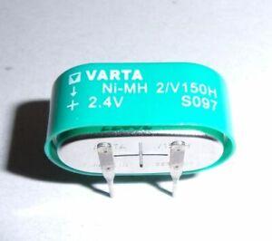 1-x-55615602940-Pile-bouton-rechargeable-2-4V-150mAh-NiMH-V150H-VARTA
