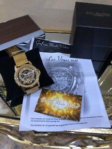 Graf-Von-Monte-Wehro-Herrenuhr-Armbanduhr-Automatikuhr-Gold-Edel