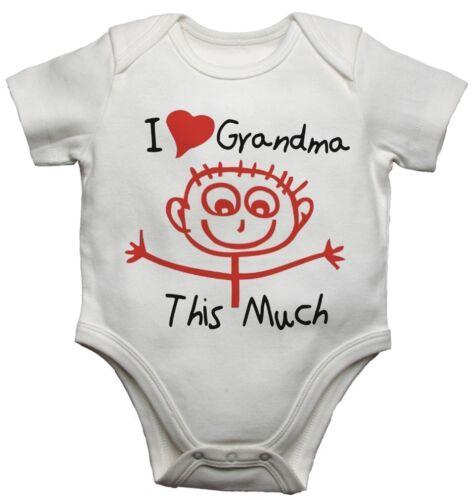 Ich Liebe Grandma Dieses Viel Lustig Personalisiert Baby Strampler Body für