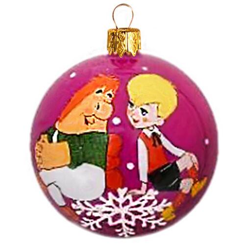 Russian Cartoon Junior Karlson Purple Glass Ornament Christmas,New Year Decor