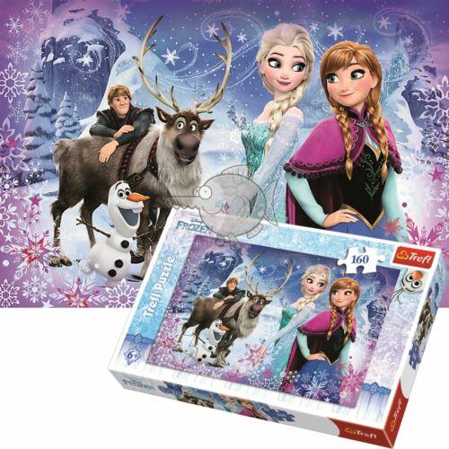 Trefl Disney 160 Piece Jigsaw Puzzle pour Enfants Frozen souffleront aventures