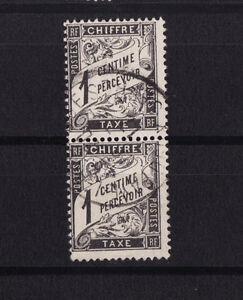 timbre-France-TAXE-Duval-1c-noir-num-10-oblitere-paire-verticale