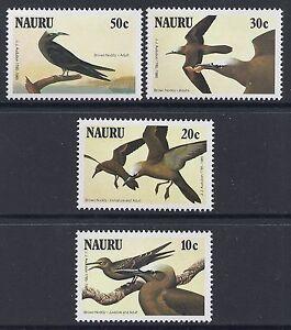 1985 NAURU AUDUBON BICENTENNIAL: BIRDS SET OF 4 FINE MINT MUH/MNH